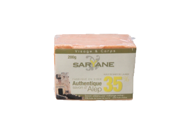 SAVON D'ALEP 35% -  AUTHENTIQUE -