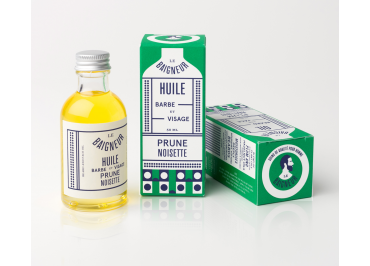 Huile Prune Noisette Bio, Barbe et Visage - BIO